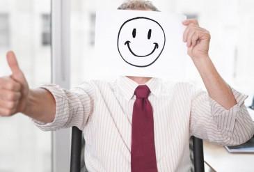 feliz en el trabajo
